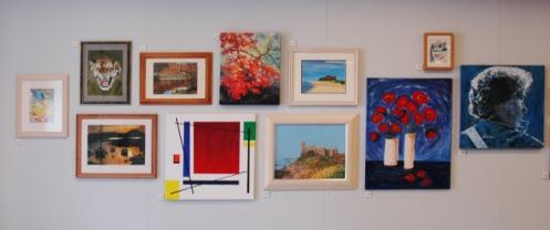 art class exhibition wall 3