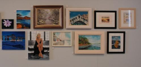 art class exhibition wall 4