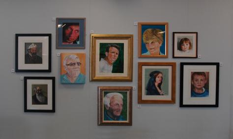 art class exhibition wall 1