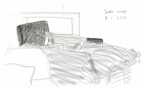 Jackie asleep