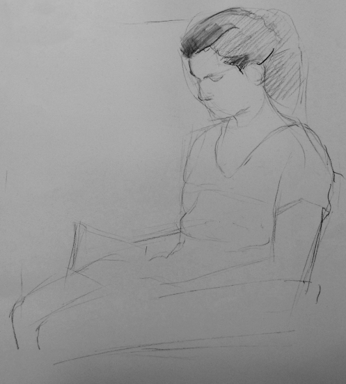 Girl reading II