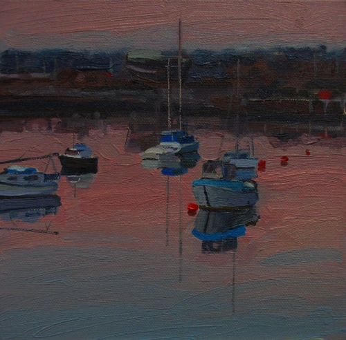 evening, harbour boats