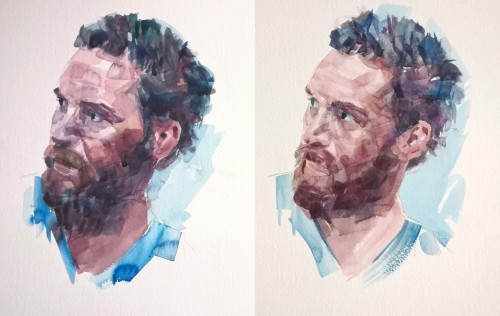 tom hardy watercolour